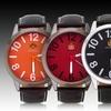 Louis Richard Dalton Men's Leather-Strap Watch
