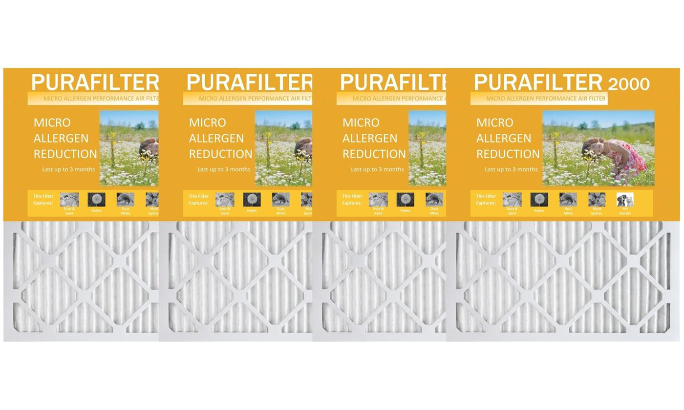 4-Pk Purafilter Gold High-Efficiency Furnace Air Filters