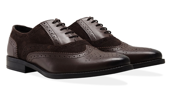 ... Groupon Goods Global GmbH: Redfoot Men's Leather Gatsby Brogue Shoes ...