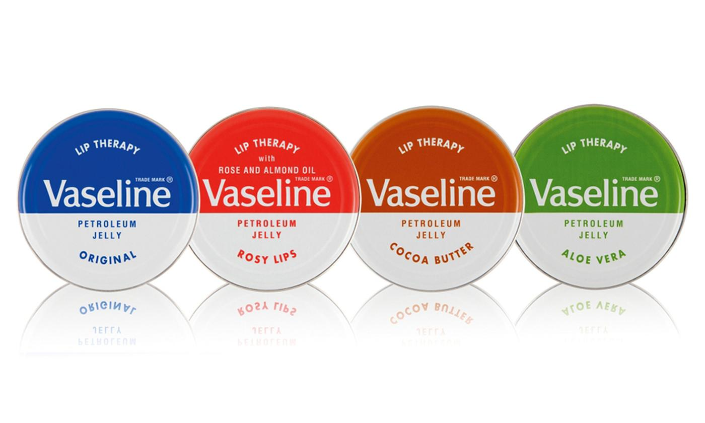 Four-Pack of Vaseline Lip Therapy 20g