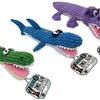 Bow Wow Pet Pixel Plush Alligator Dog Toy (3-Pack)