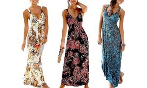 1 ou 2 robes maxi avec motifs paisley, taille et coloris au choix