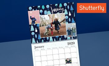 Up to 82% Off Personalized 12-Month Calendars from Shutterfly