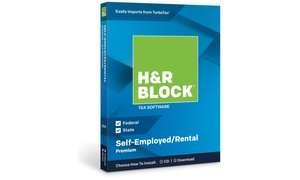 H&R Block Tax Software Premium + State 2018