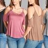 Isaac Liev Women's Criss-Cross Ruffle-Sleeve Cami Top