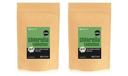 250g, 500g od. 1000g Wohltuer Bio-Chlorella-Tabletten mit den konzentrierten Nährstoffen aus der Alge Chlorella Vulgaris (Hamburg)