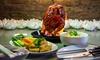 Burning-Chicken-Menü mit Dessert