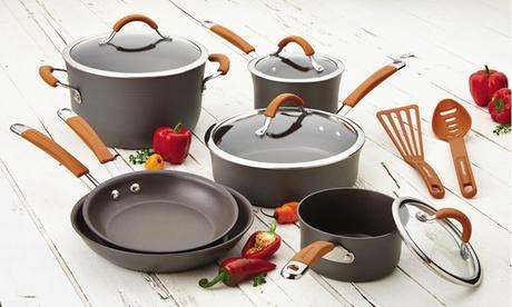 Rachael Ray Cucina Hard-Anodized Nonstick Cookware Set (12-Piece) 3ef2a800-2090-11e7-ae61-002590604002