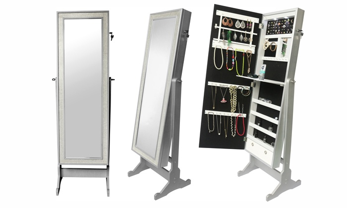 Cheval Mirror Jewellery Cabinet Uk Jewelry Armoire White Big Lots Glitzy