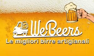 WeBeers: Mistery box con 6 o 12 bottiglie di birre artigianali o buono da 25 € da utilizzare sul sito WeBeers