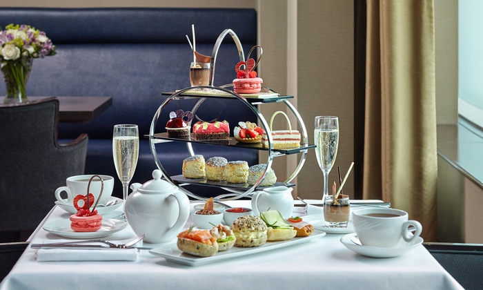 Podium Restaurant and Bar - London: Chocoholics Afternoon Tea with Optional Glass of Champagne for Two at 5* London Hilton on Park Lane (Up to 50% Off)