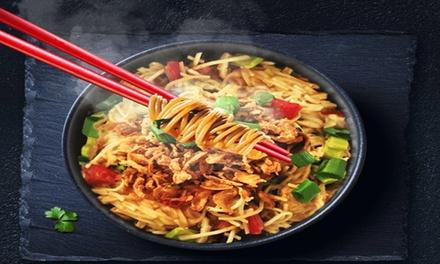 Menu en 2 services au choix pour 1 ou 2 personnes dès 9,99 € au restaurant The Noodle Bar