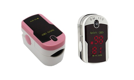 Fingertip Pulse Rate Oximeter with Case and Neck/Wrist Cord