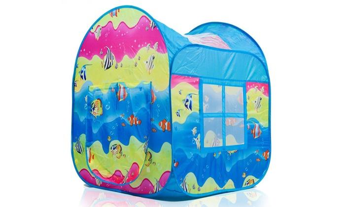 Indoor-Outdoor Pop Up Play Tent in Fun Underwater Design with Mesh Windows: Indoor-Outdoor Pop Up Play Tent in Fun Underwater Design with Mesh Windows