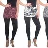 Women's Skirted Leggings (4-Pack) (Size-Plus)