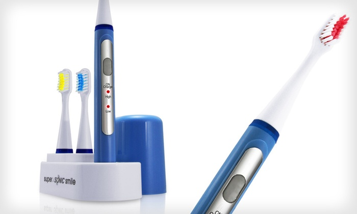 Super Sonic Toothbrush and Whitening System: $29 for a Super Sonic Smile Toothbrush Cleaning and Whitening System ($69 List Price). Free Shipping and Returns.