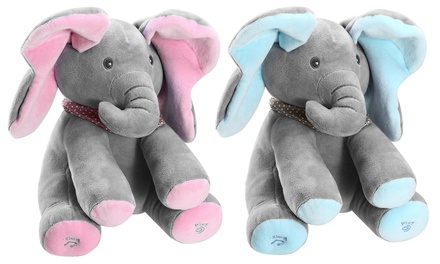 "iMounTEK 12"" Plush Stuffed Interactive Talking and Singing Elephant Doll"
