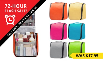 Extra Large Waterproof Toiletry Bag: One $15 or Two $23