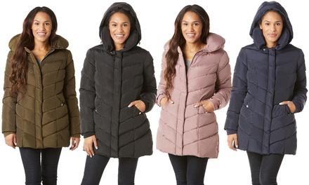 Steve Madden Women's Chevron Coat. Plus Sizes Available