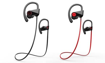 Liger Blaze or Blaze XL Bluetooth 4.1 Wireless Sweatproof Noise-Canceling Earbud Headphones with Microphone