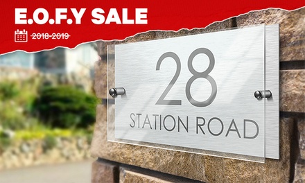 Personalised House Sign: Standard $19 or Premium with Acrylic Front $25 Don't Pay up to $49.99
