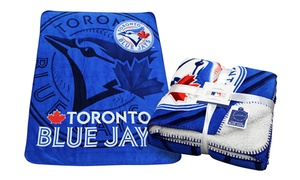 Officially Licensed MLB Toronto Blue Jays Fleece-Lined Throw at Gertex Hosiery, plus 9.0% Cash Back from Ebates.