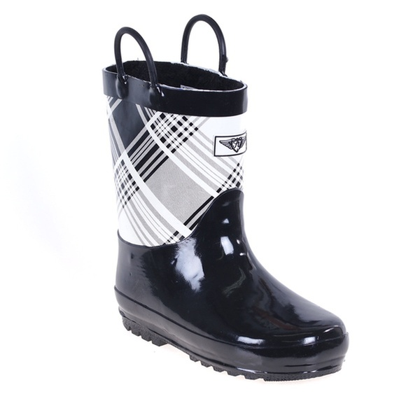 Forever Young Kids Rubber Pull Up Zebra Print Rainboots