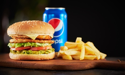 Wrap or Burger, Chips and Drink Each for One $9, Two $18 or Four Ppl $36 at Ogalo Newtown Up to $63.60 Value