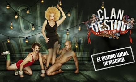 Entrada a Clandestino Cabaret del 25 de mayo al 29 de junio por 9,90 € en el Gran Teatro Bankia Príncipe Pío