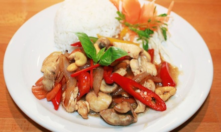 All You Can Eat ThreeCourse Thai Lunch Buffet for Two or Four at Just Thai