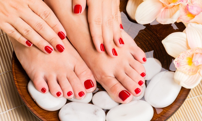 Resolutions Med Spa - Monroeville: Pedicure or Signature Pedicure with Option of Regular or Shellac Manicure at Resolutions Med Spa (Up to 56% Off)