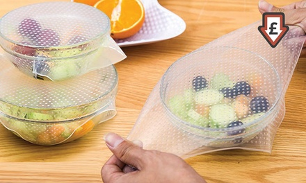 4, 8, 12 or 16 Reusable and Adjustable Silicone Food Covers