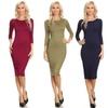 Women's Body-Conscious Knee-Length Dresses (5-Pack)
