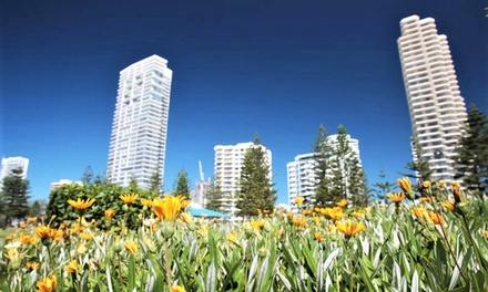 Gold Coast, Broadbeach: 3, 5 or 7Night Stay for Two People with Wine and Late Checkout at 4* Santa Anne by the Sea