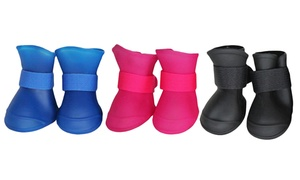 Protective All Terrain Rubberized Dog Shoes for Small Breeds