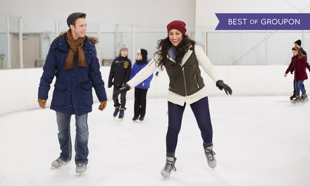 45-Minute Ice Skating Session: Child, Adult and Family Ticket at Camberley on Ice (Up to 50% Off)