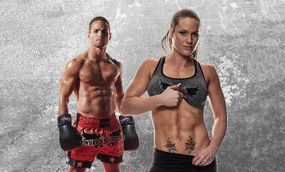 image for 4 or 10 Kickboxing Classes with Personal-Training Session and Boxing Gloves at iLoveKickboxing.com  (74% Off)