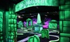Glow-in-the-dark minigolf