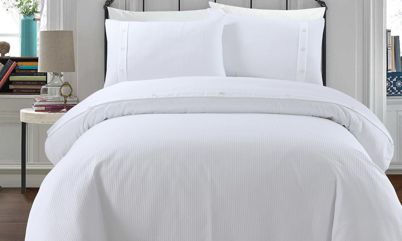 Pieridae Soft Touch Waffle Duvet Sets for £9.98