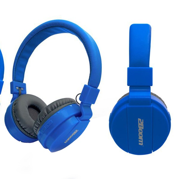 2Boom HPBT220 Blast Bluetooth Wireless Over-Ear Headphones with Built-in Mic