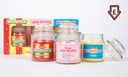 Gift Pack Swizzels Sweet Shop Candle Jars - Classic Candy Fragrances from £6.98