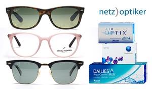 Netzoptiker: Wertgutschein über 40, 70 oder 100 € anrechenbar auf Brillen, Sonnenbrillen, Linsen und Pflegemittel von netzoptiker