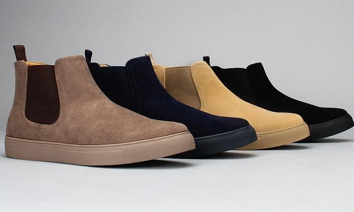 79378fbf19c Harrison Men's Casual Faux-Suede Chelsea Sneaker Boots | Groupon