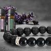 Lava Stone Chakra Diffuser Bracelet with Optional Essential Oils