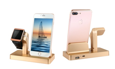 GPCT TwoInOne Docking Station for iPhone and Apple Watch in Choice of Colour