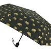 Black Mini Manual-Open Umbrella with Elephant Pattern