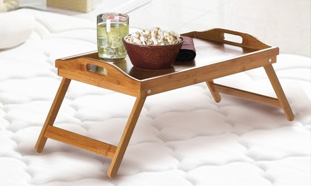 Bamboo Fold-Up Lap Tray: One ($35) or Two ($55)