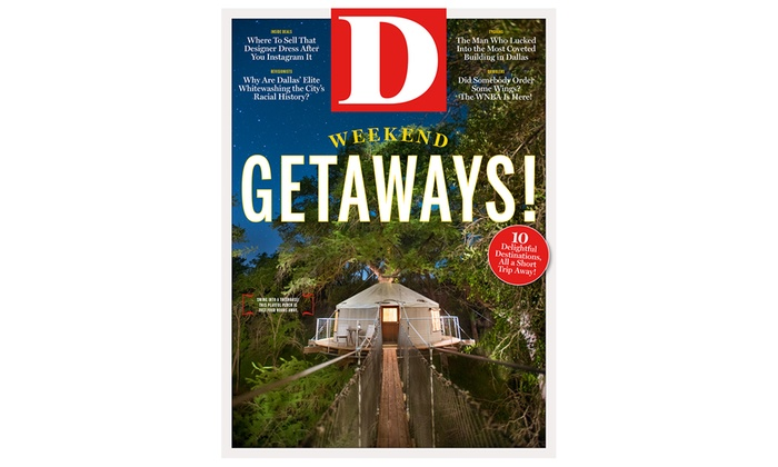 "_D_ Magazine: One or Two Year Subscription to ""D"" Magazine (Up to 50% Off)"