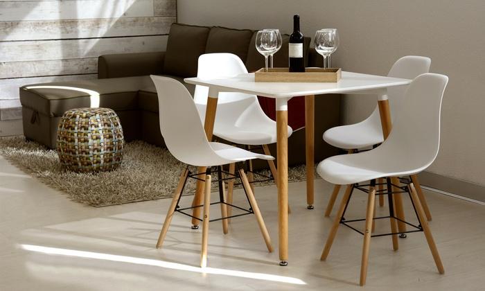 Sedie Bianche Design : Set scandi con tavolo e sedie groupon goods