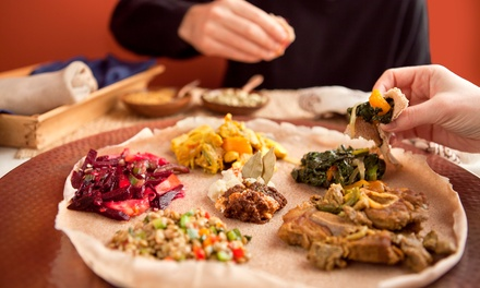 Three-Course Ethiopian Meal and Optional Drinks for Two or Four at Abyssinia Ethiopian Restaurant (Up to 50% Off)